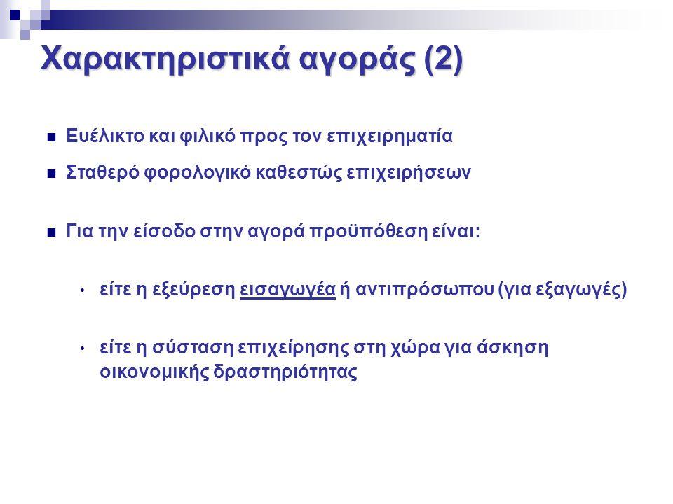 Χαρακτηριστικά αγοράς (2)