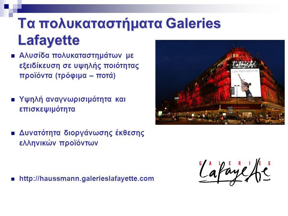 Τα πολυκαταστήματα Galeries Lafayette