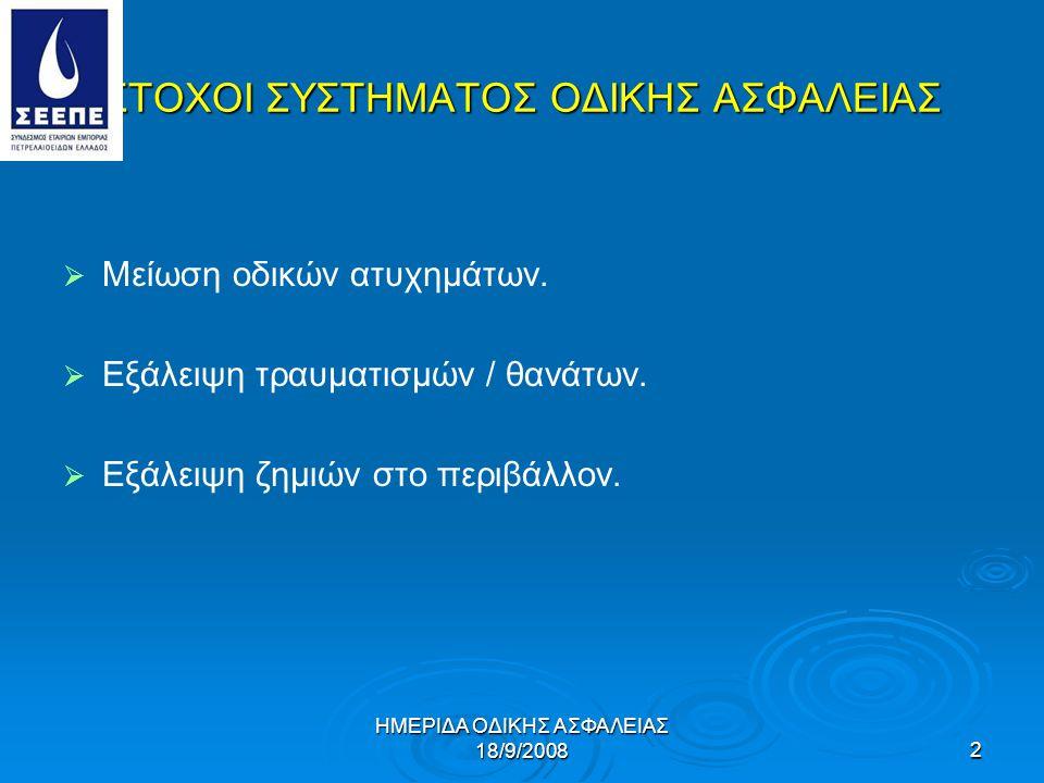 ΣΤΟΧΟΙ ΣΥΣΤΗΜΑΤΟΣ ΟΔΙΚΗΣ ΑΣΦΑΛΕΙΑΣ