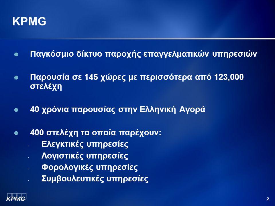 KPMG Παγκόσμιο δίκτυο παροχής επαγγελματικών υπηρεσιών