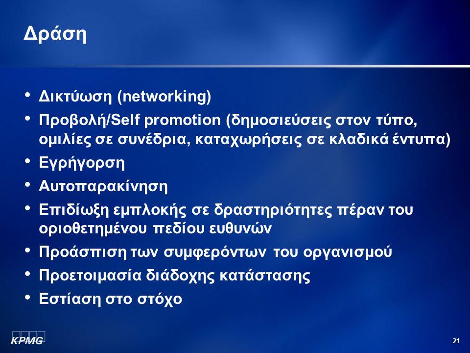 Δράση Δικτύωση (networking)