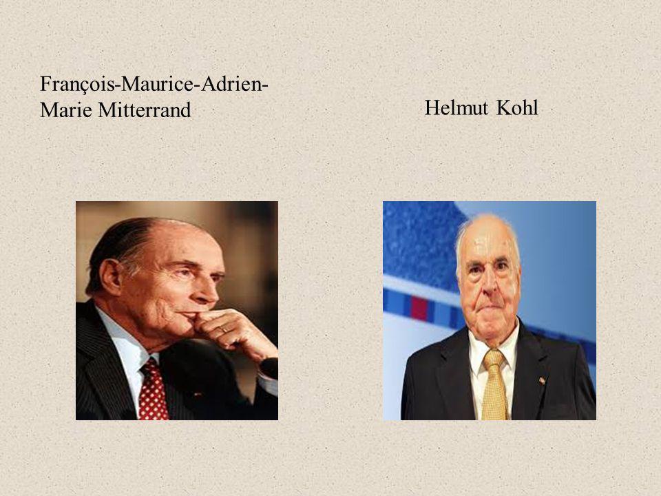 Helmut Kohl François-Maurice-Adrien-Marie Mitterrand