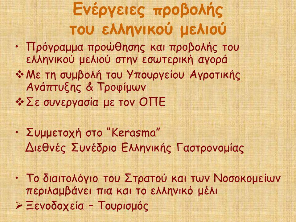 Ενέργειες προβολής του ελληνικού μελιού