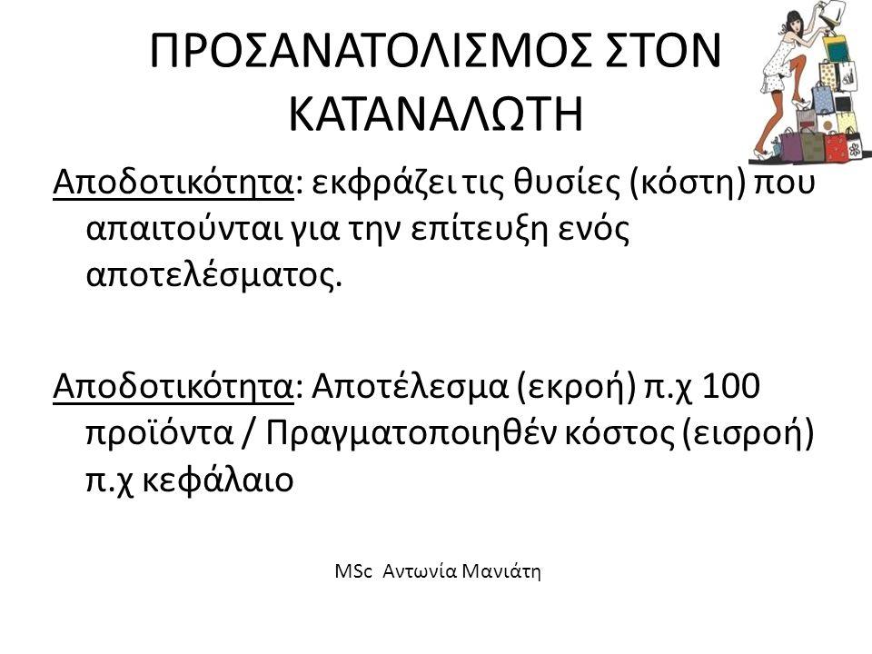 ΠΡΟΣΑΝΑΤΟΛΙΣΜΟΣ ΣΤΟΝ ΚΑΤΑΝΑΛΩΤΗ