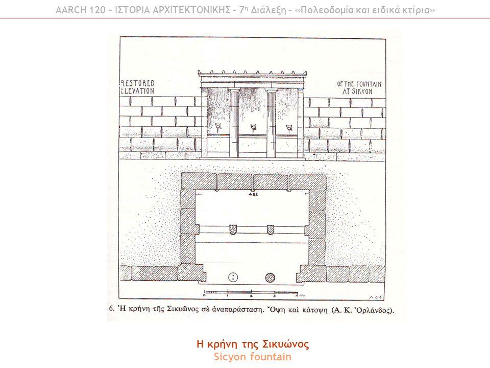 H κρήνη της Σικυώνος Sicyon fountain
