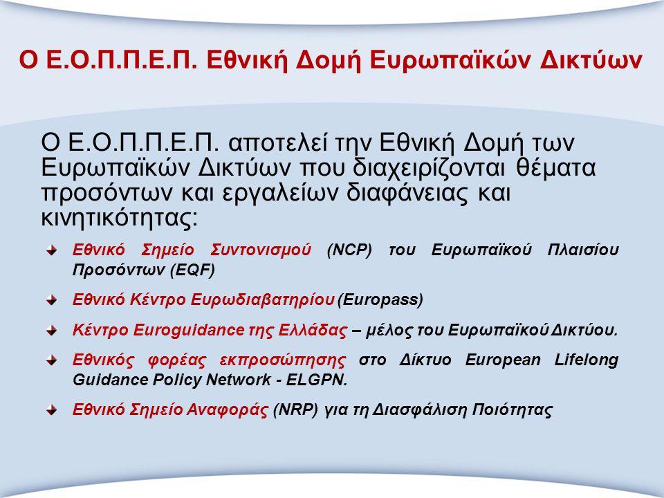 Ο Ε.Ο.Π.Π.Ε.Π. Εθνική Δομή Ευρωπαϊκών Δικτύων