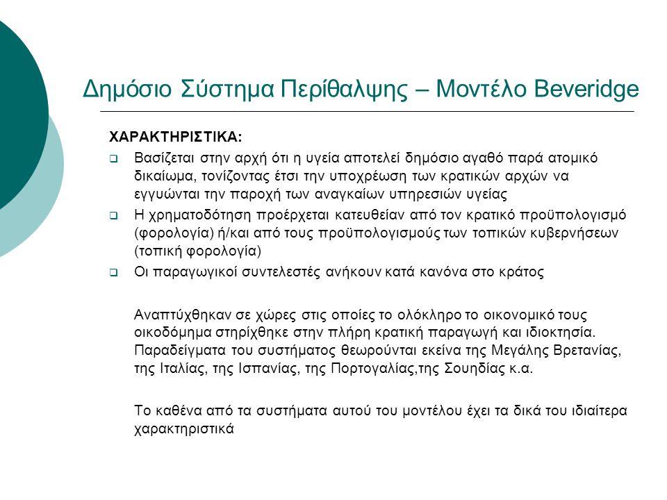 Δημόσιο Σύστημα Περίθαλψης – Μοντέλο Beveridge
