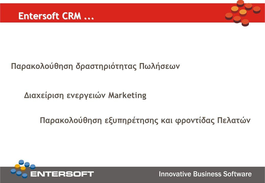Παρακολούθηση δραστηριότητας Πωλήσεων Διαχείριση ενεργειών Marketing