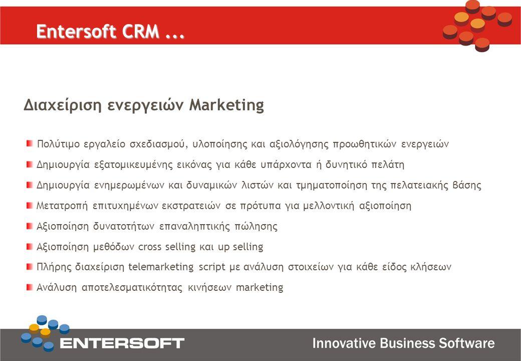 Διαχείριση ενεργειών Marketing