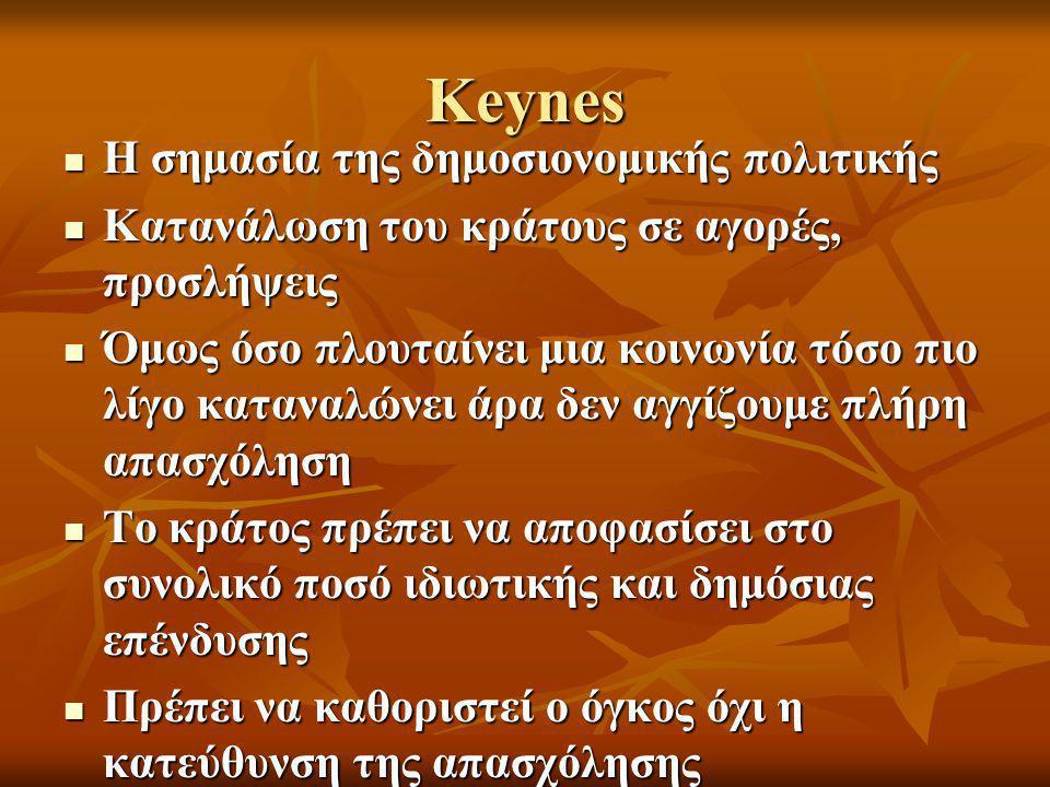 Keynes Η σημασία της δημοσιονομικής πολιτικής