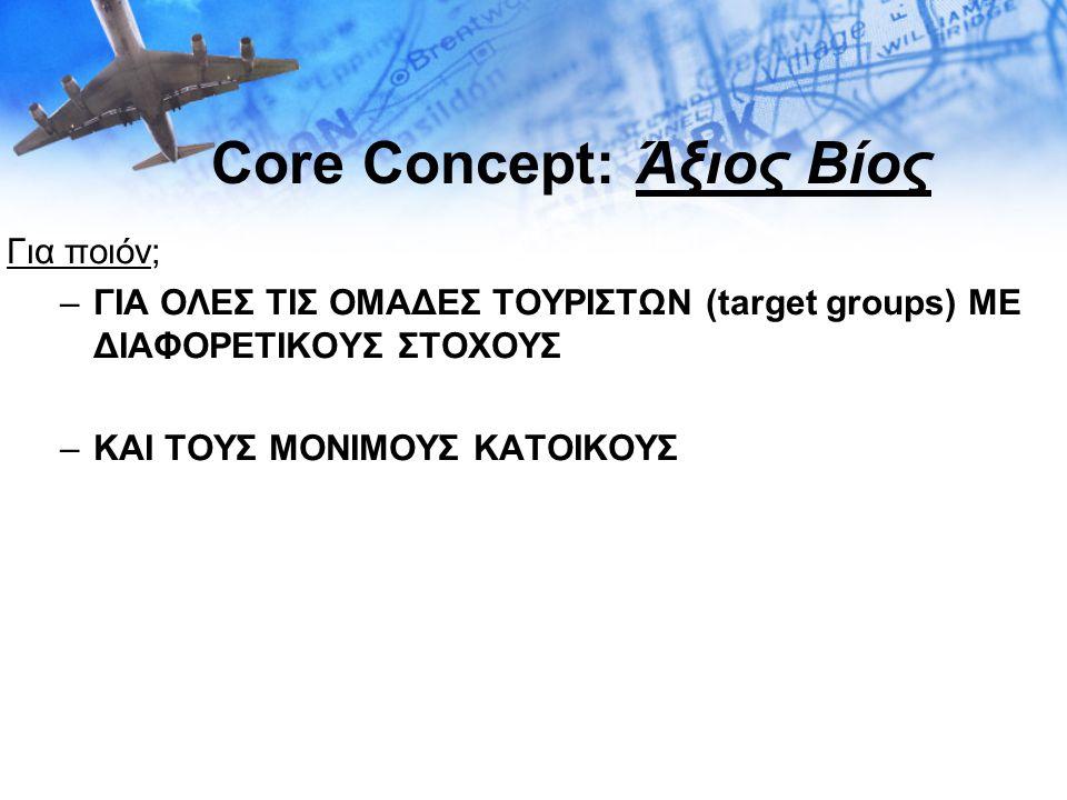 Core Concept: Άξιος Βίος