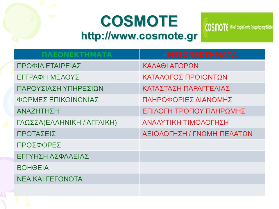 COSMOTE http://www.cosmote.gr