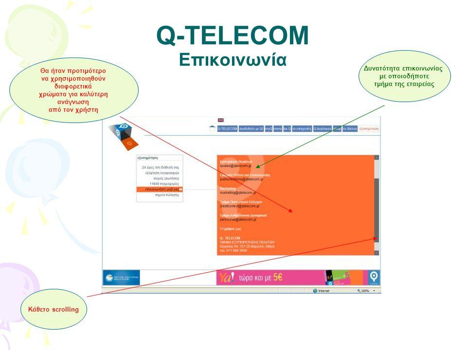 Q-TELECOM Επικοινωνία
