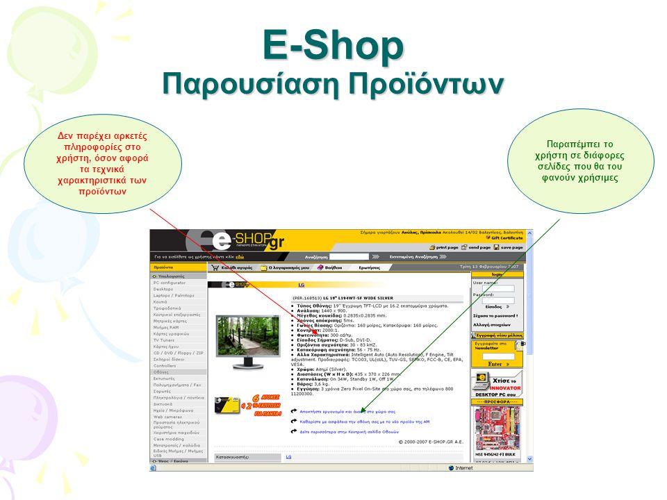 E-Shop Παρουσίαση Προϊόντων