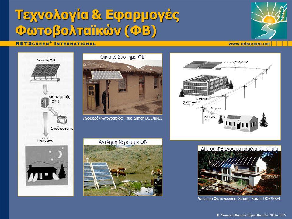 Τεχνολογία & Εφαρμογές Φωτοβολταϊκών (ΦΒ)