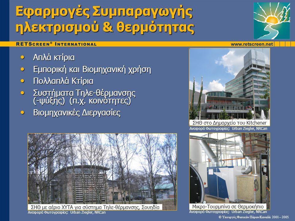 Εφαρμογές Συμπαραγωγής ηλεκτρισμού & θερμότητας