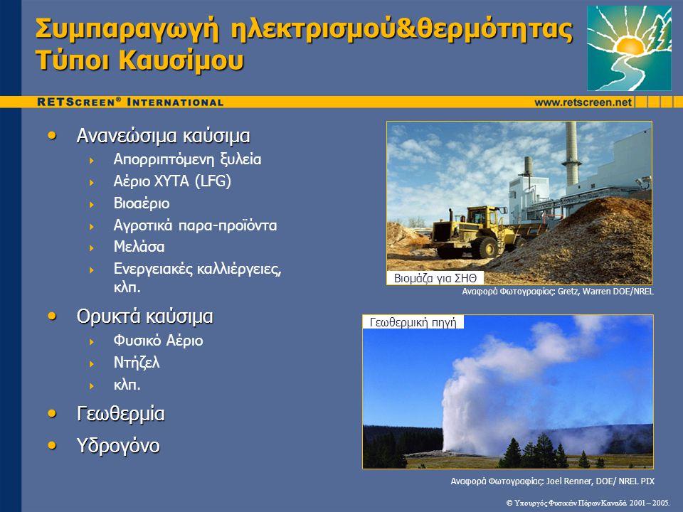 Συμπαραγωγή ηλεκτρισμού&θερμότητας Τύποι Καυσίμου
