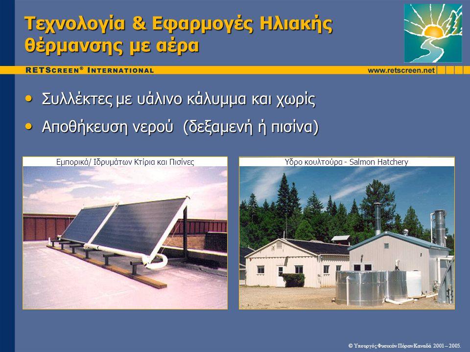 Τεχνολογία & Εφαρμογές Ηλιακής θέρμανσης με αέρα