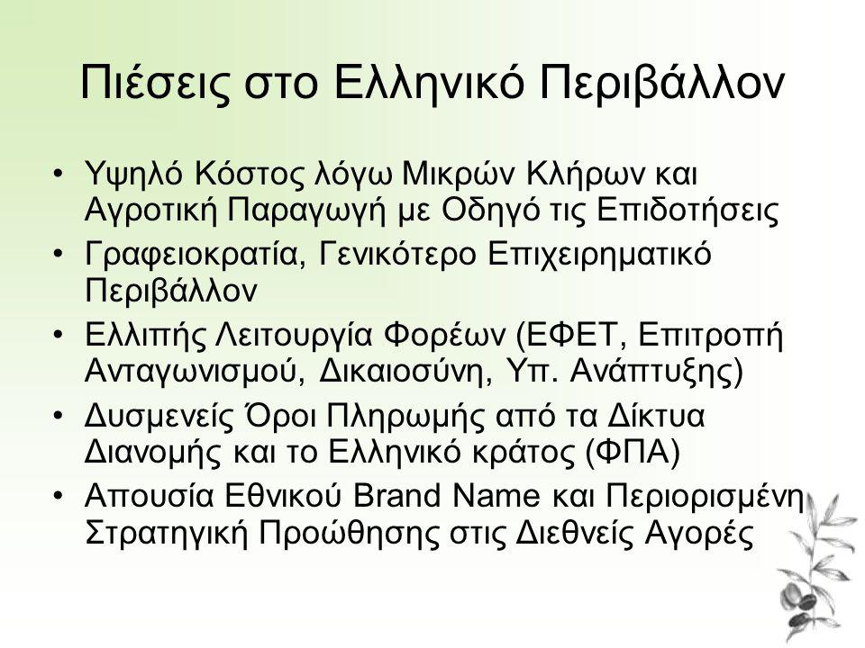 Πιέσεις στο Ελληνικό Περιβάλλον