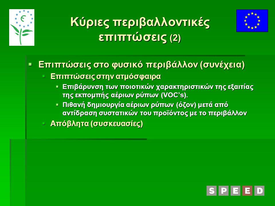Κύριες περιβαλλοντικές επιπτώσεις (2)