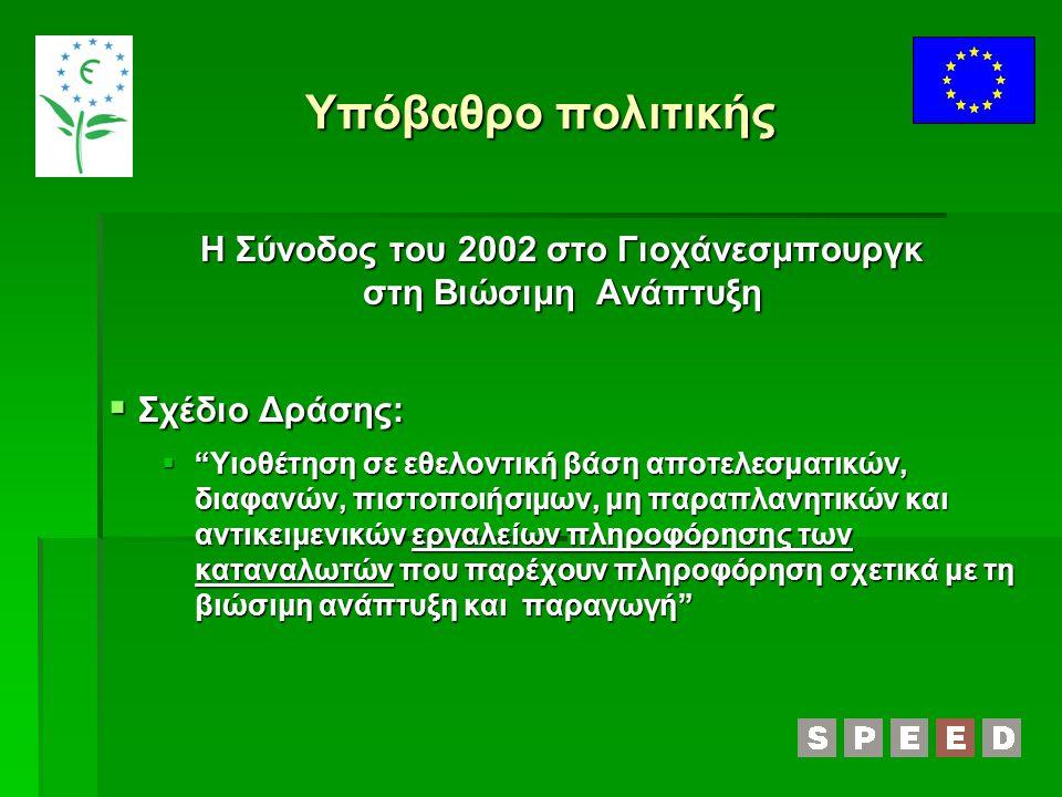 Η Σύνοδος του 2002 στο Γιοχάνεσμπουργκ στη Βιώσιμη Ανάπτυξη