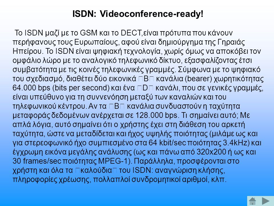 ISDN: Videoconference-ready!