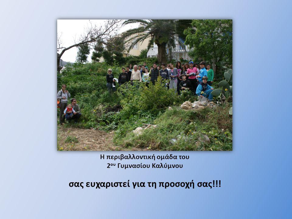 Η περιβαλλοντική ομάδα του 2ου Γυμνασίου Καλύμνου