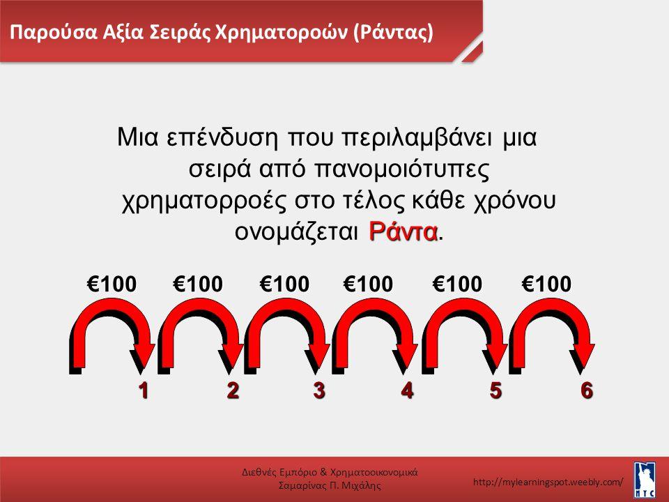 Παρούσα Αξία Σειράς Χρηματοροών (Ράντας)