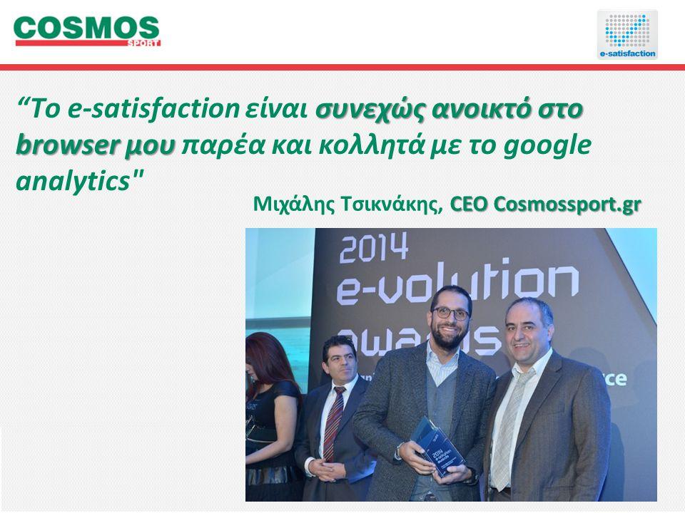 Μιχάλης Τσικνάκης, CEO Cosmossport.gr