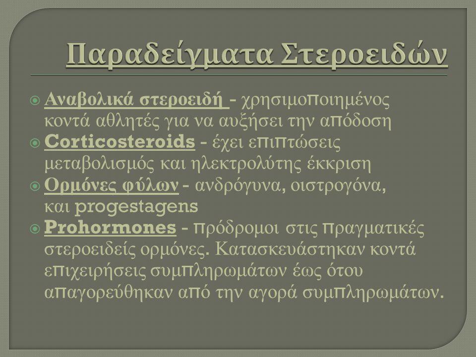 Παραδείγματα Στεροειδών