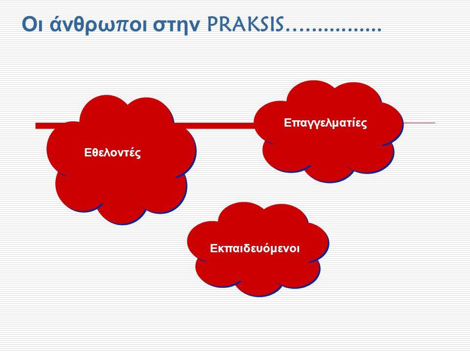 Οι άνθρωποι στην PRAKSIS….............