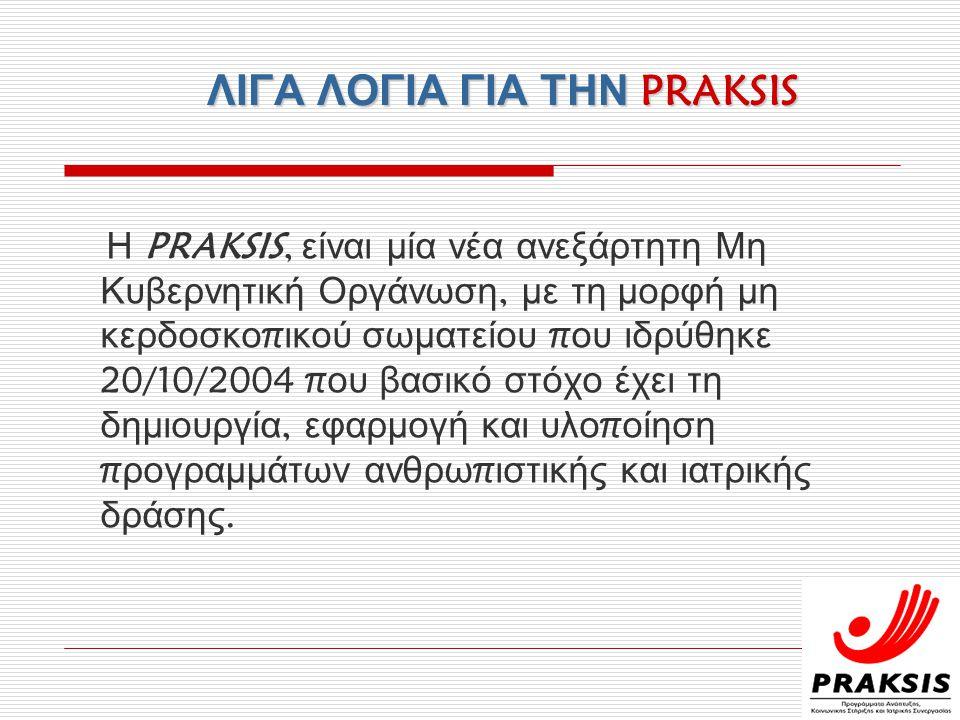 ΛΙΓΑ ΛΟΓΙΑ ΓΙΑ ΤΗΝ PRAKSIS