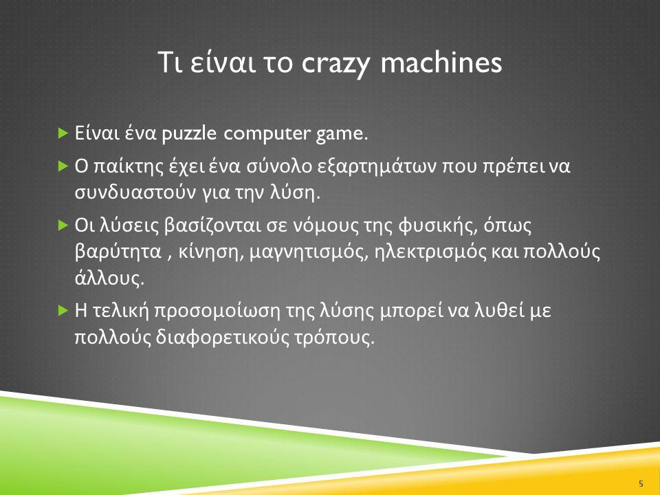 Τι είναι το crazy machines