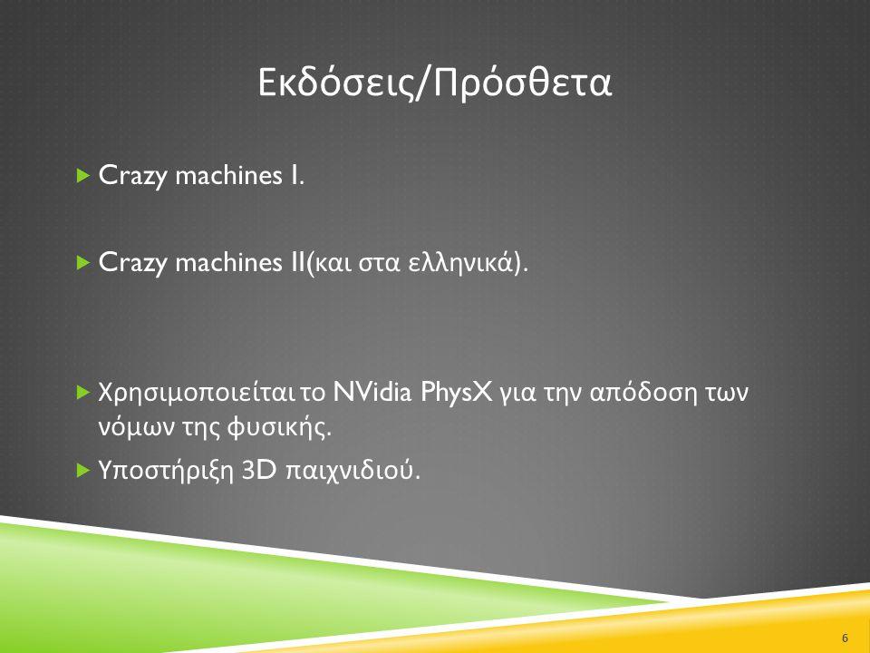 Εκδόσεις/Πρόσθετα Crazy machines I.