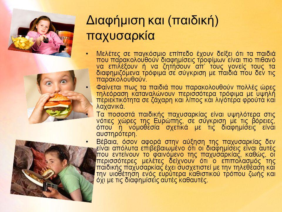Διαφήμιση και (παιδική) παχυσαρκία