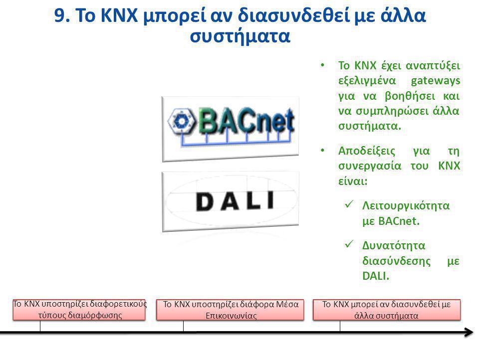9. Το KNX μπορεί αν διασυνδεθεί με άλλα συστήματα