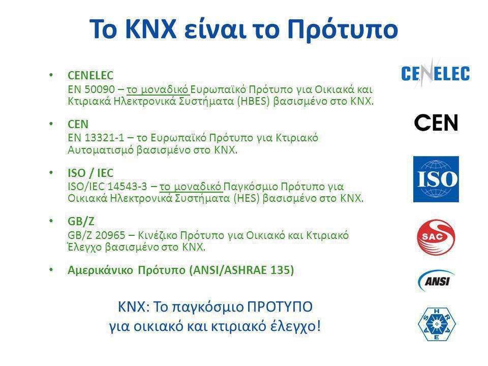 Το KNX είναι το Πρότυπο KNX: Το παγκόσμιο ΠΡΟΤΥΠΟ