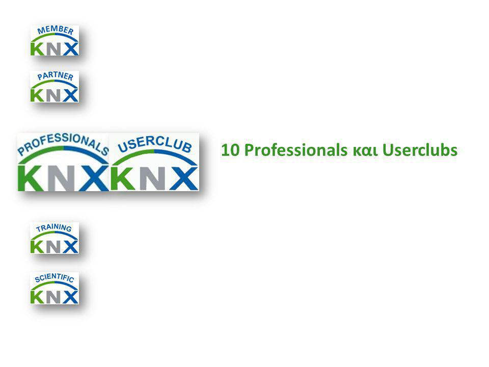 10 Professionals και Userclubs