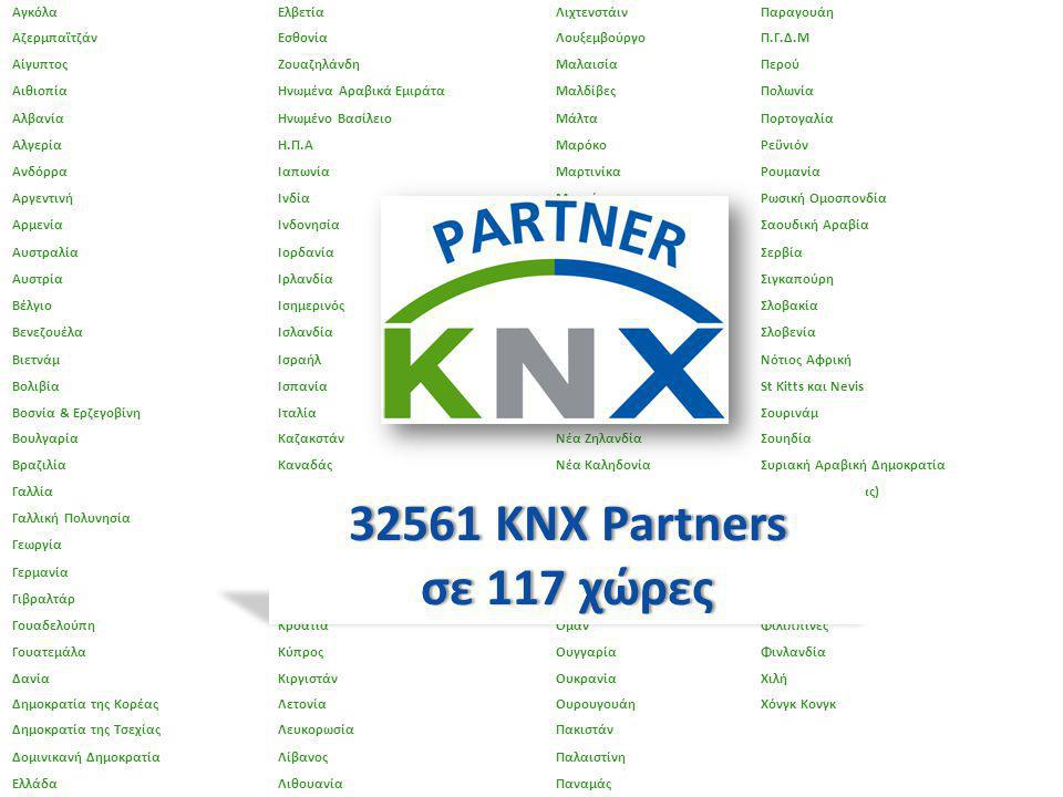 32561 KNX Partners σε 117 χώρες Αγκόλα Ελβετία Λιχτενστάιν Παραγουάη