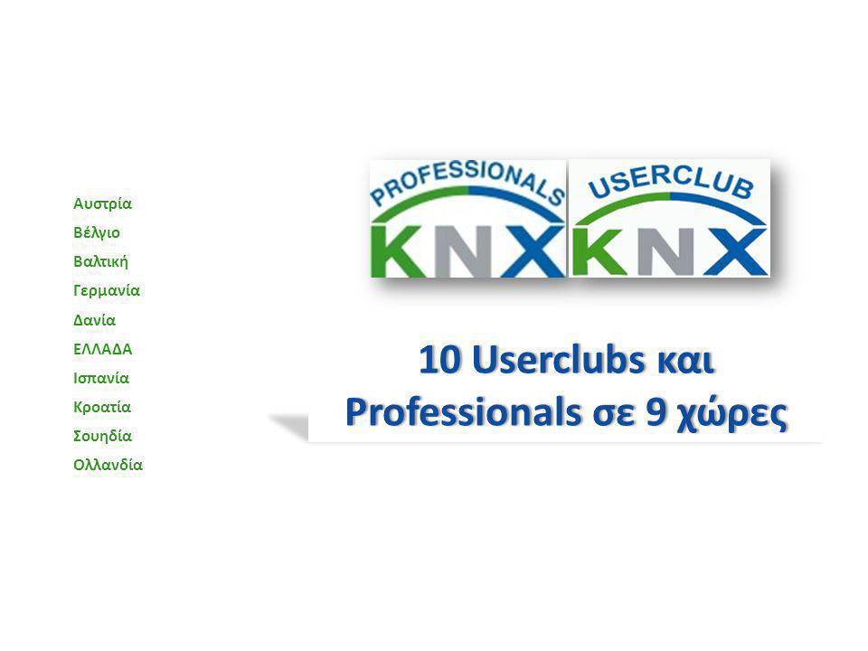 10 Userclubs και Professionals σε 9 χώρες