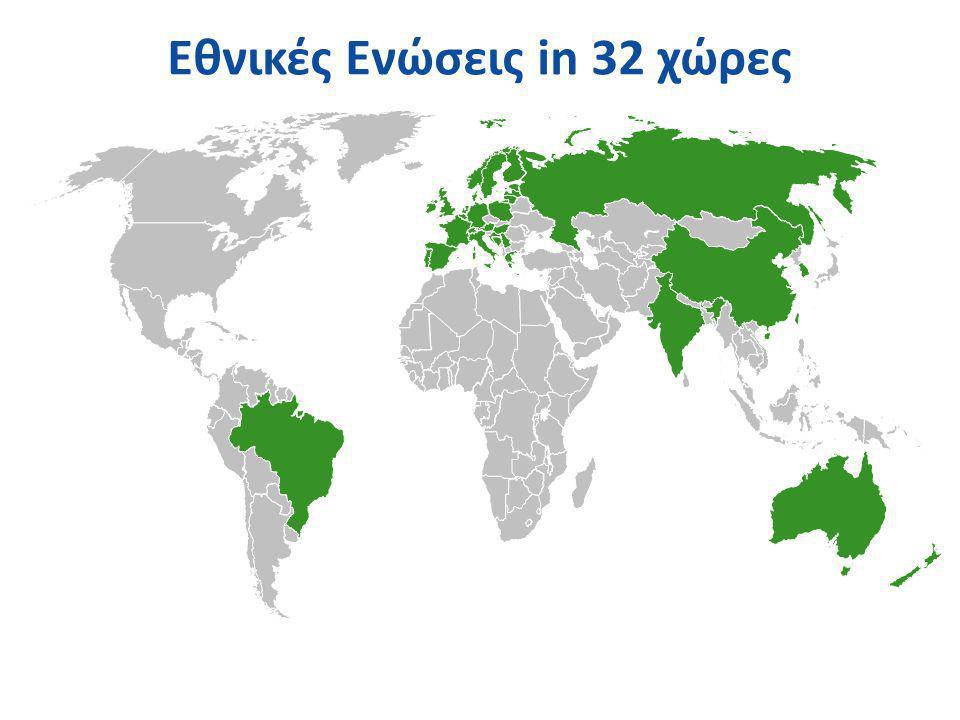 Εθνικές Ενώσεις in 32 χώρες