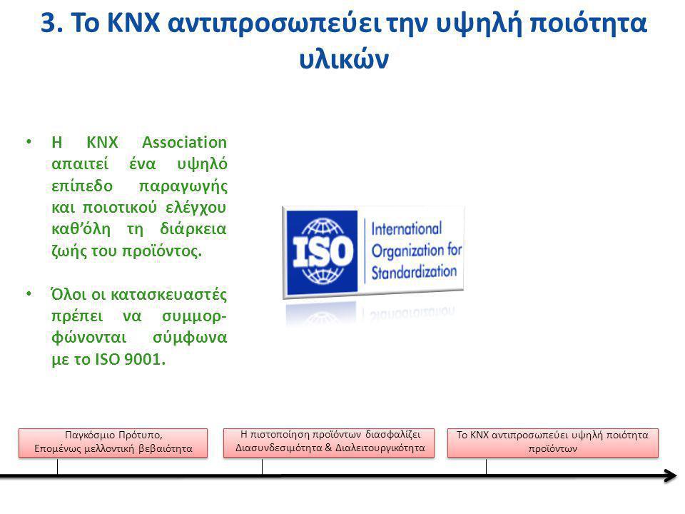 3. Το KNX αντιπροσωπεύει την υψηλή ποιότητα υλικών