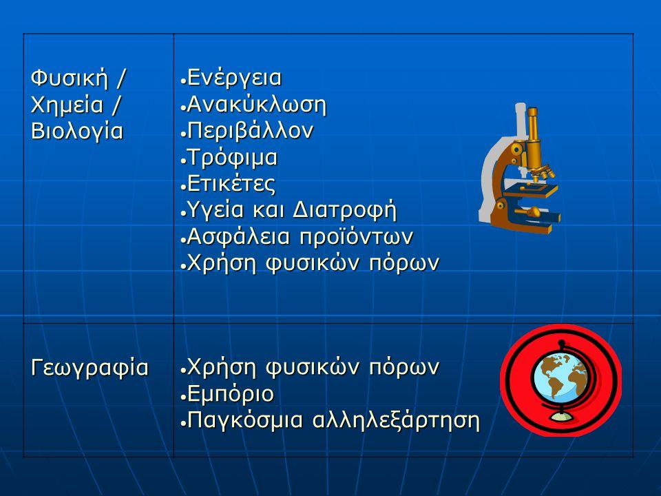 Φυσική / Χημεία / Βιολογία