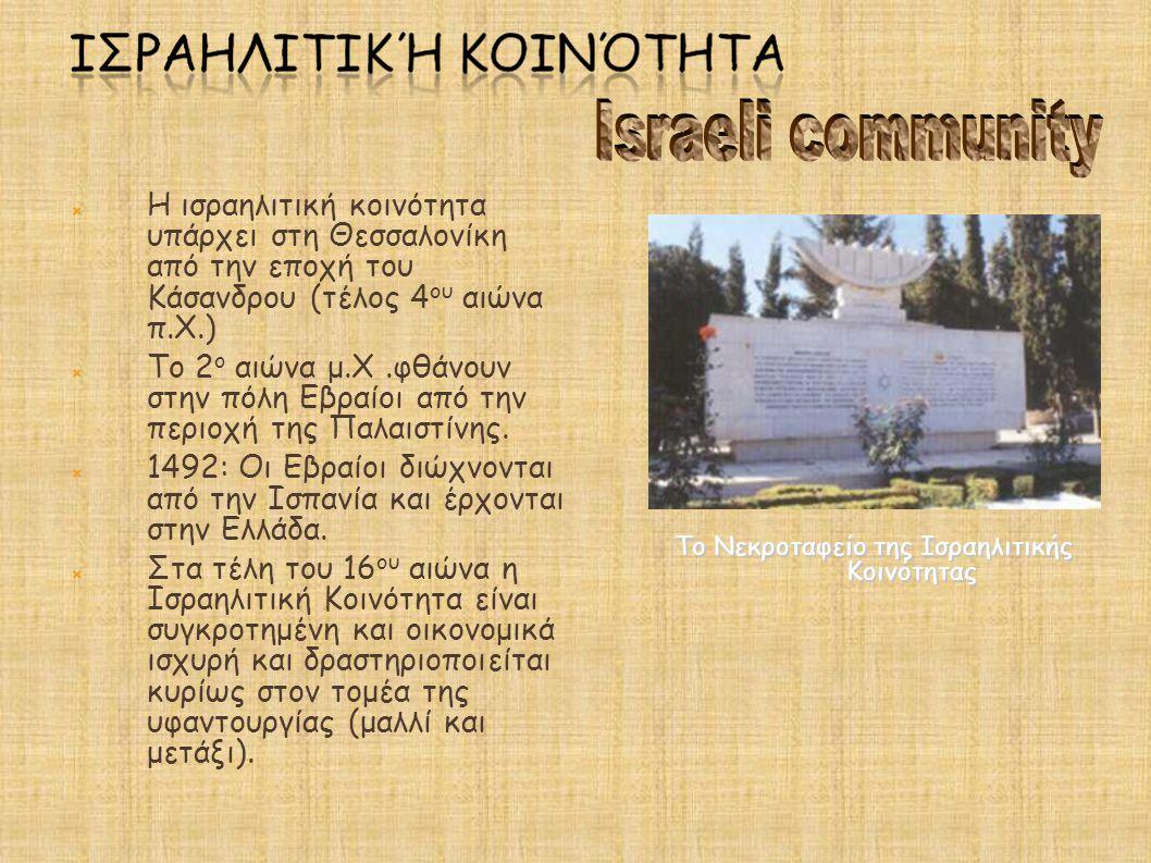 Το Νεκροταφείο της Ισραηλιτικής Κοινότητας