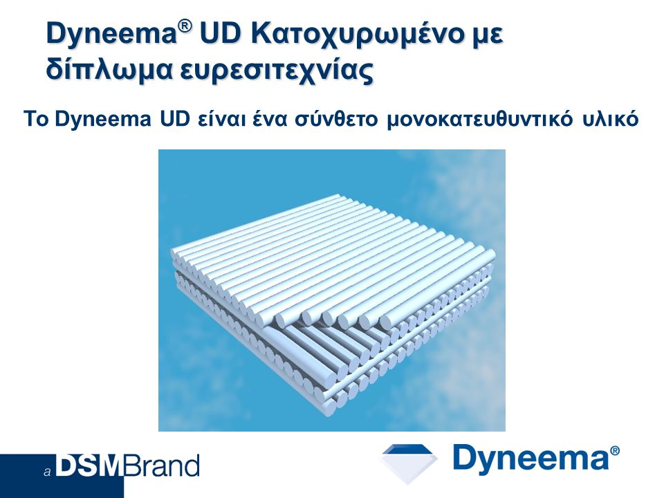 Dyneema® UD Κατοχυρωμένο με δίπλωμα ευρεσιτεχνίας