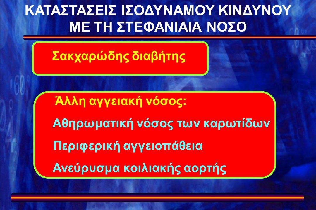 ΚΑΤΑΣΤΑΣΕΙΣ ΙΣΟΔΥΝΑΜΟΥ ΚΙΝΔΥΝΟΥ