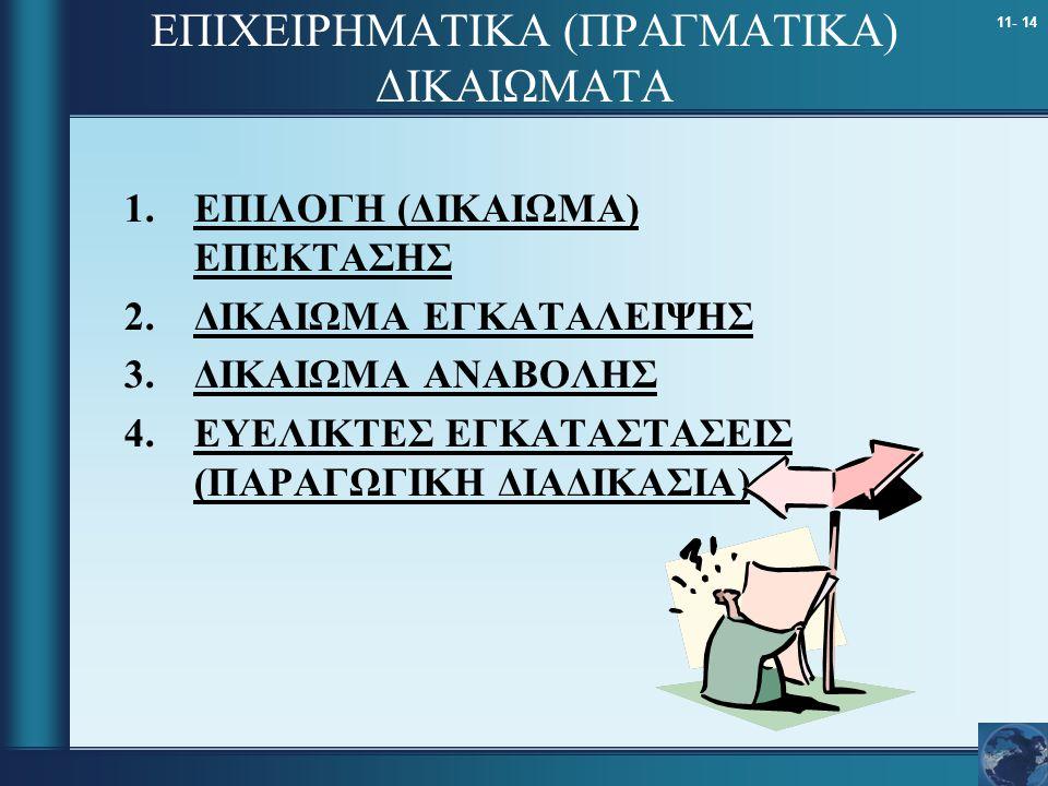 ΕΠΙΧΕΙΡΗΜΑΤΙΚΑ (ΠΡΑΓΜΑΤΙΚΑ) ΔΙΚΑΙΩΜΑΤΑ