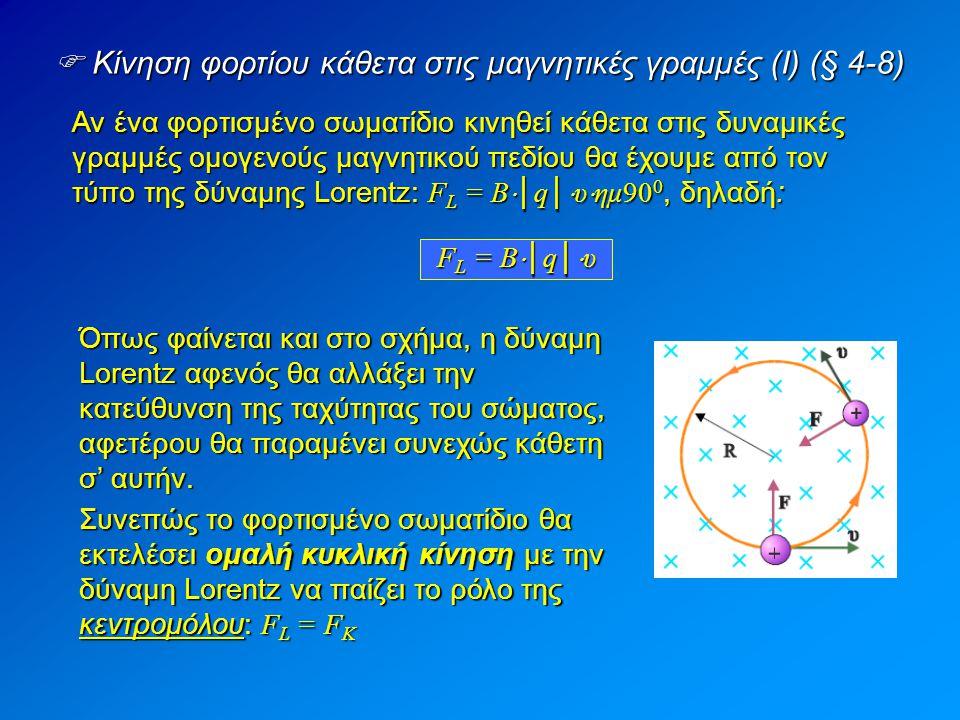  Κίνηση φορτίου κάθετα στις μαγνητικές γραμμές (I) (§ 4-8)