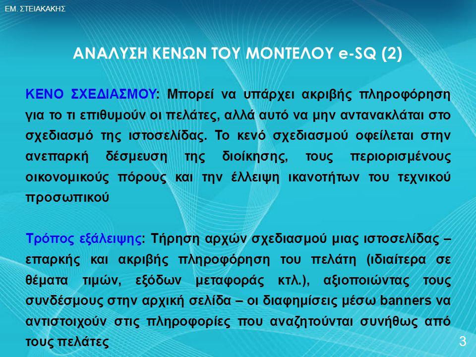 ΑΝΑΛΥΣΗ ΚΕΝΩΝ ΤΟΥ ΜΟΝΤΕΛΟΥ e-SQ (2)