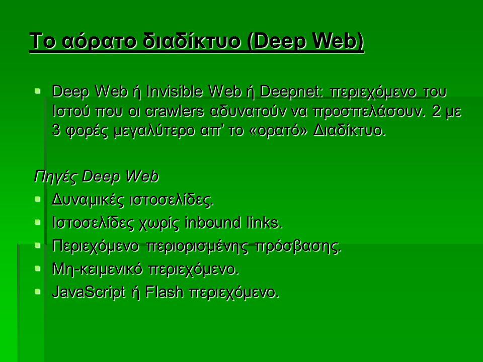 Το αόρατο διαδίκτυο (Deep Web)